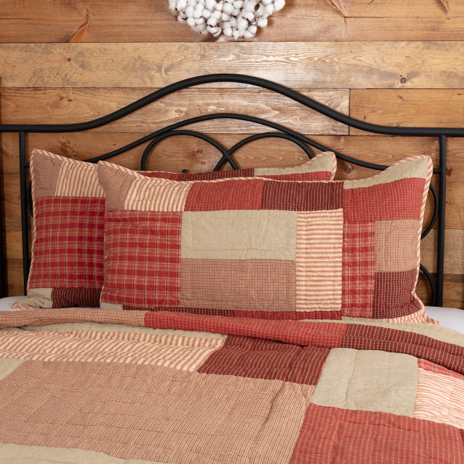 Rory Schoolhouse Red King Sham 21x37