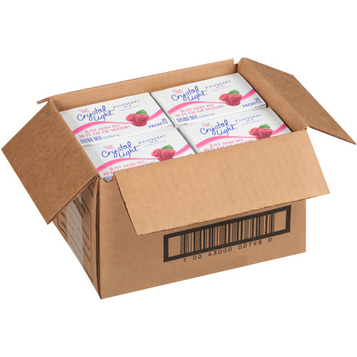 CRYSTAL LIGHT Single Serve Sugar-Free Raspberry Ice On-the-Go Mix, 30-0.8 oz. Packets (Pack of 4 Boxes)