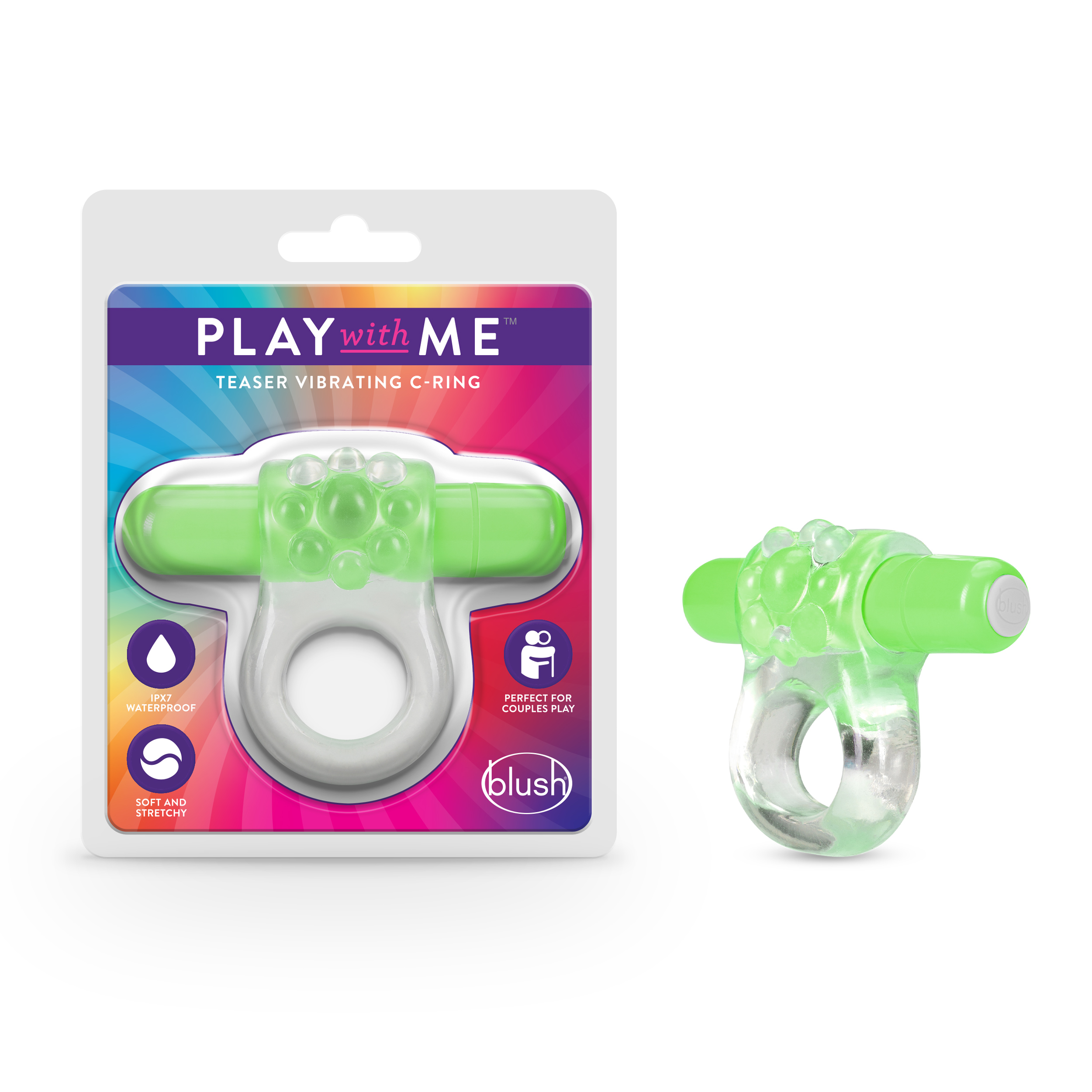 Play with Me - Teaser Vibrating C-Ring - Green
