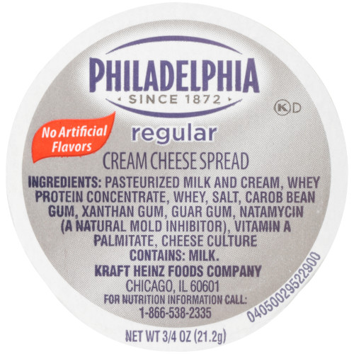 PHILADELPHIA Original Cream Cheese Spread, 0.75 oz. Cup (Pack of 100)