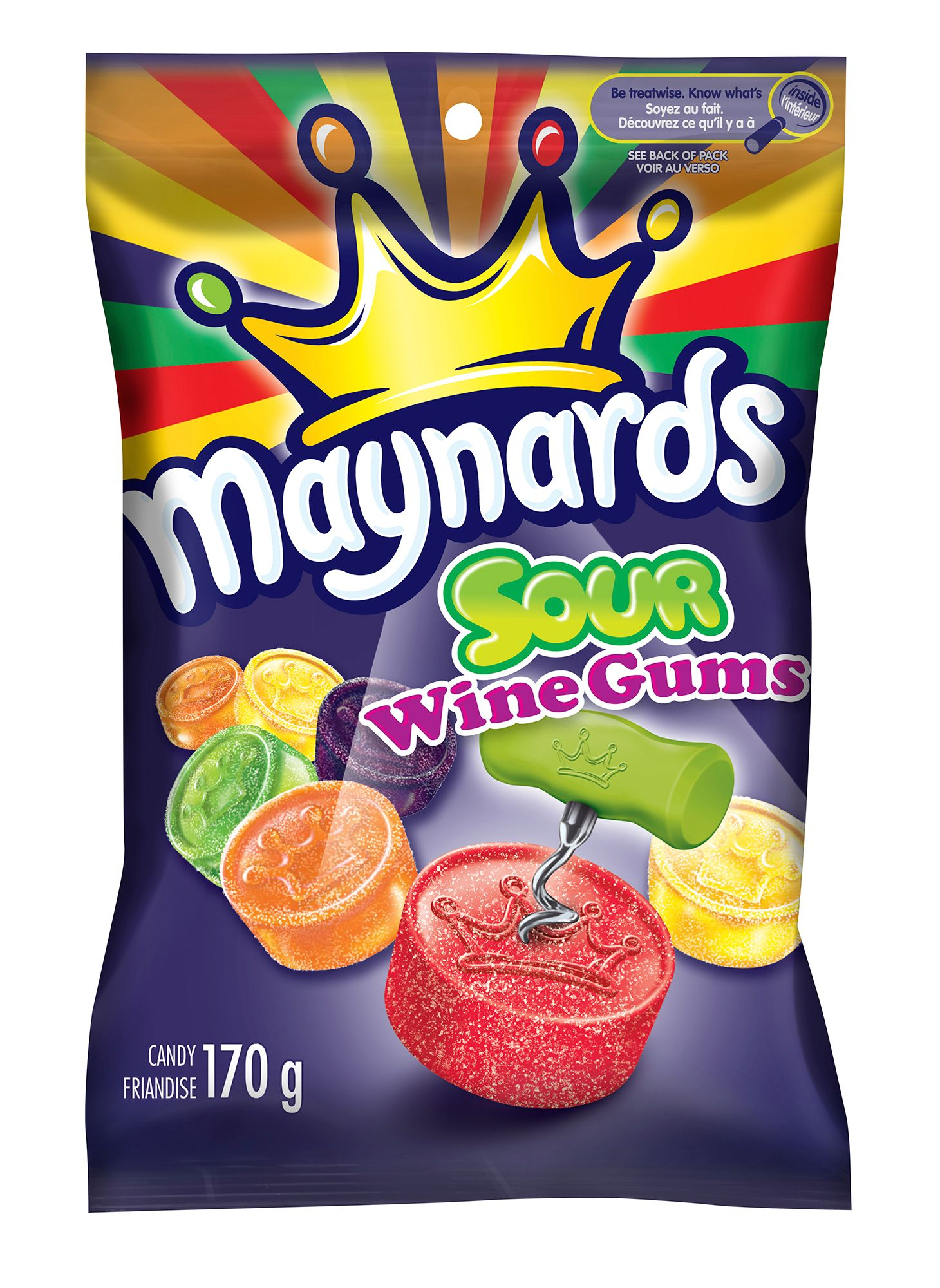 Maynards Sour Wine Gums Friandise Molle 170 G