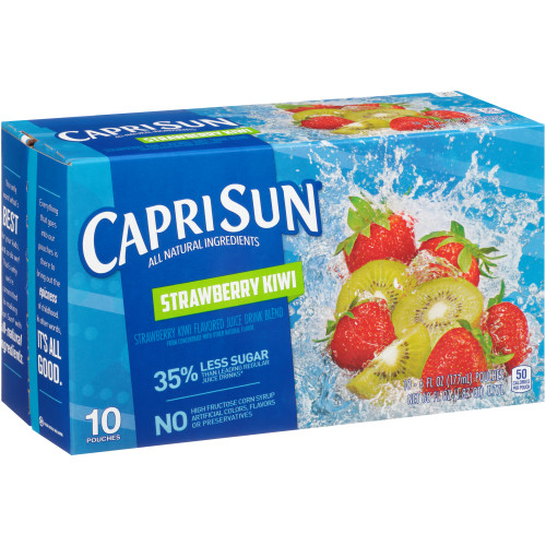 CAPRI SUN Strawberry Juice Pouch, 6 oz. Pouches (Pack of 40)