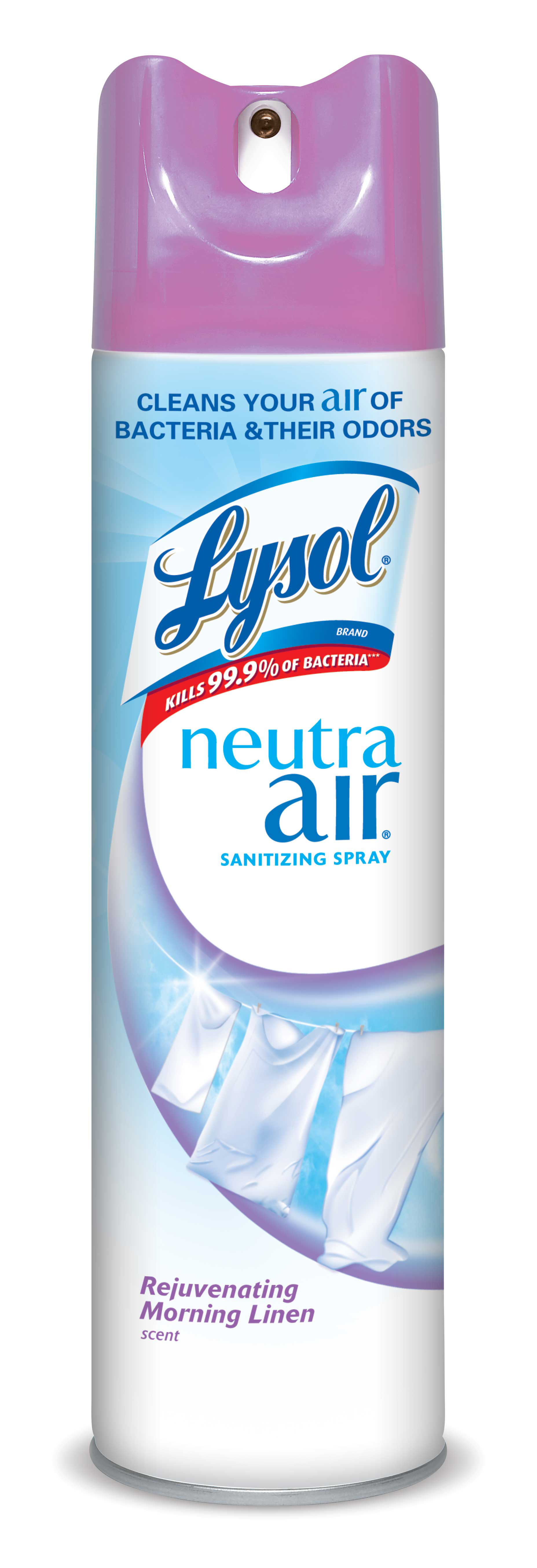 Lysol Neutra Air Sanitizing Spray, Morning Linen, 10oz, Air Freshener, Odor Neutralizer