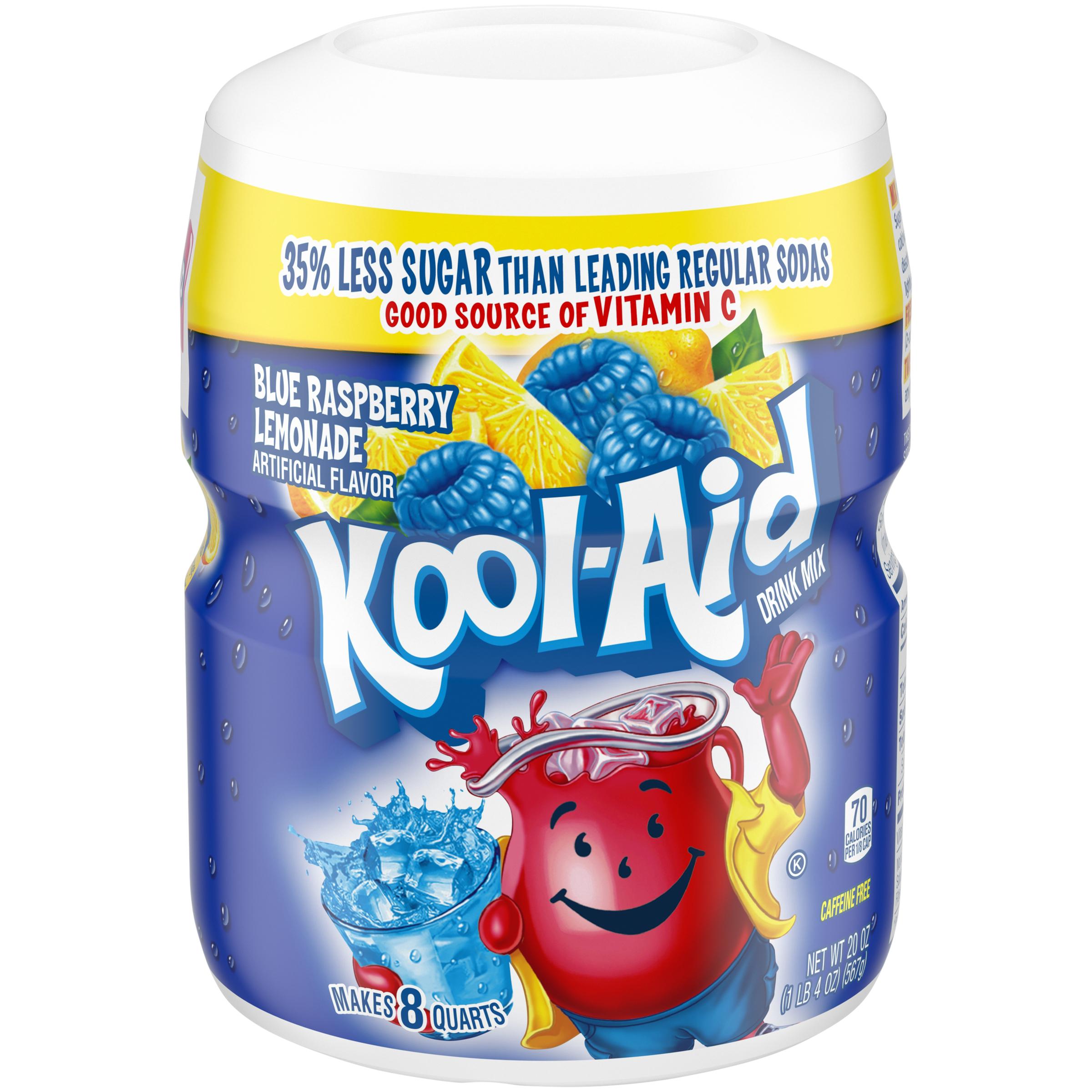 KOOL-AID Twists Ice Blue Raspberry Lemonade  Drink Mix Sugar Sweetened 20 oz Canister image