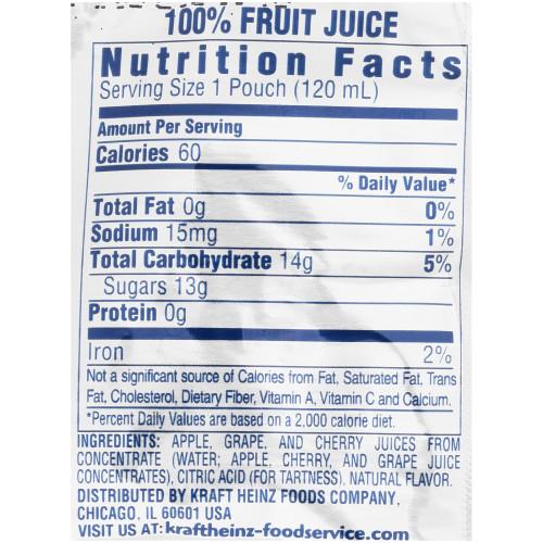 CAPRI SUN 100% Juice Fruit Punch Pouch, 4 oz. Pouches (Pack of 48)