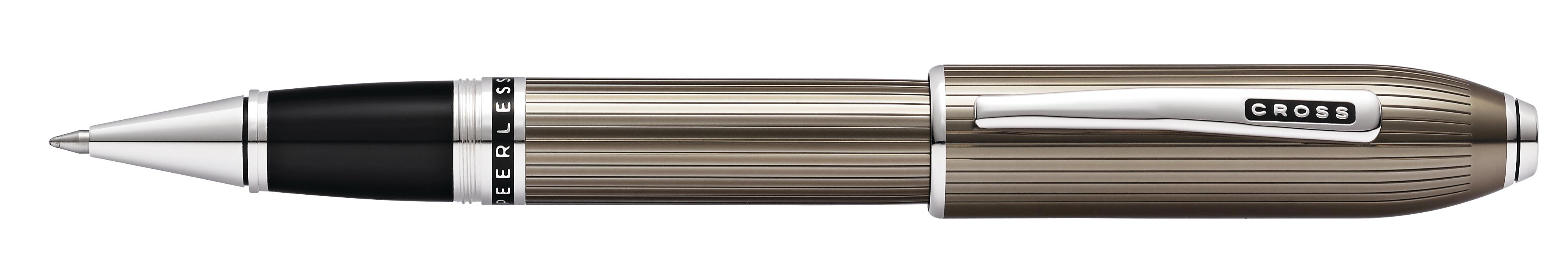 Peerless Translucent Titanium Gray Rollerball Pen