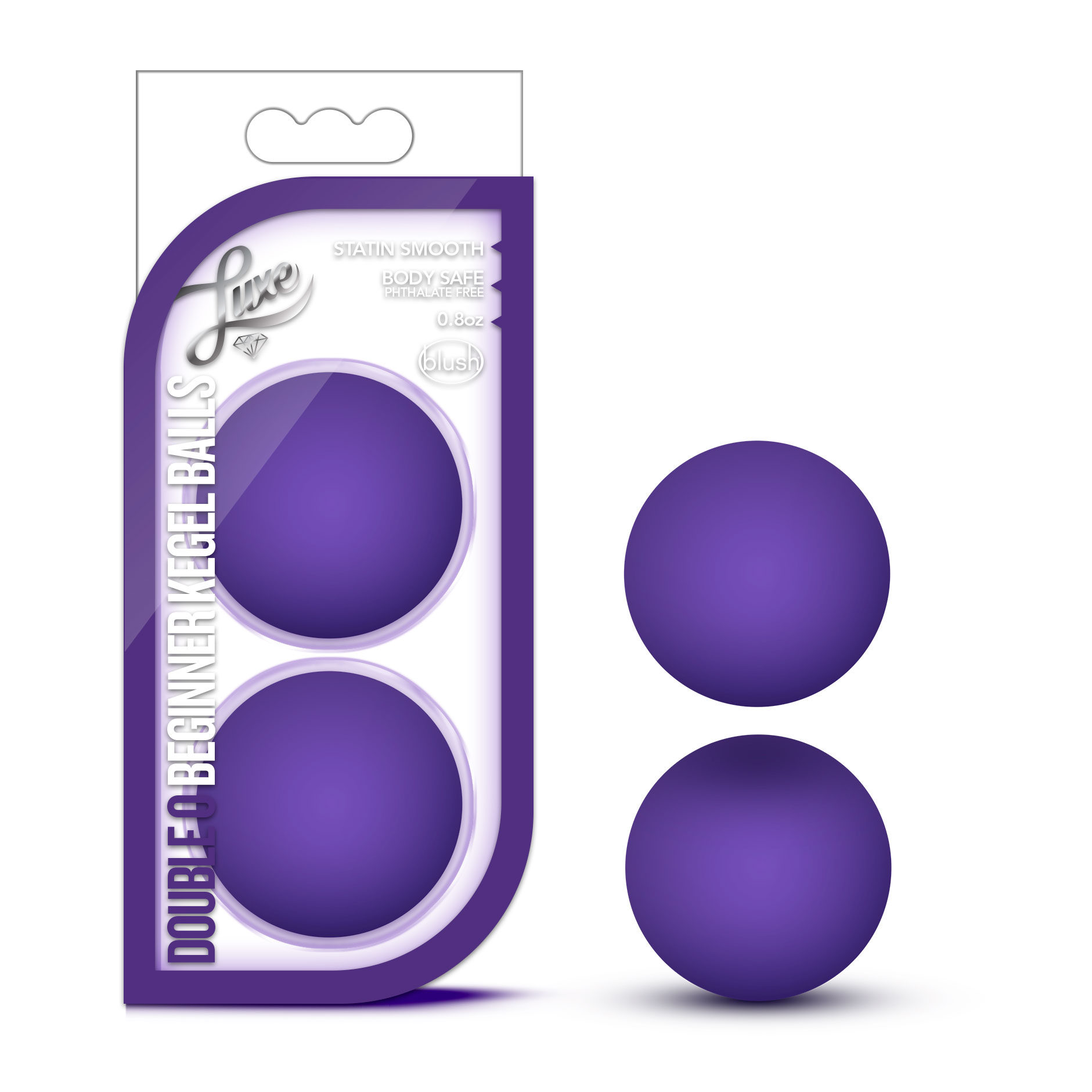 Luxe - Double O Beginner Kegel Balls - Purple