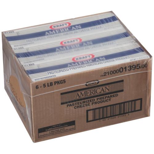KRAFT American Cheese, 5 lb. Loaf (Pack of 4)
