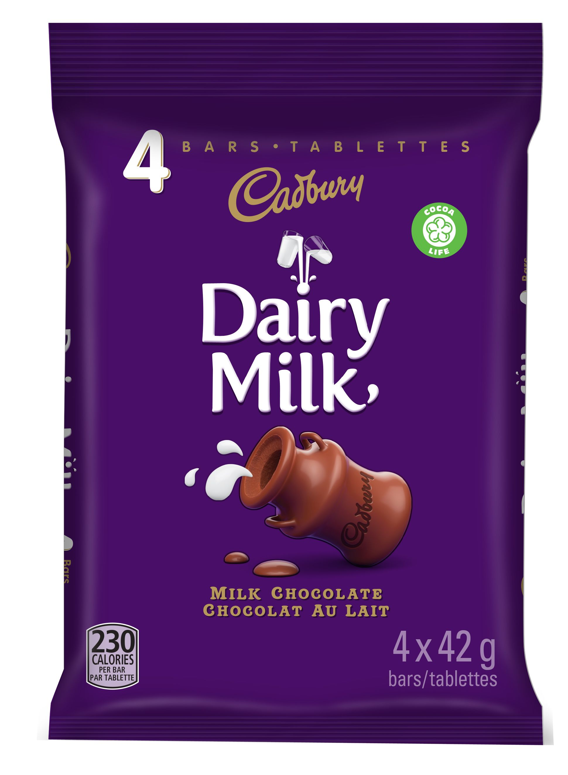CADBURY DAIRY MILK  FOUR PACK 168 GRM