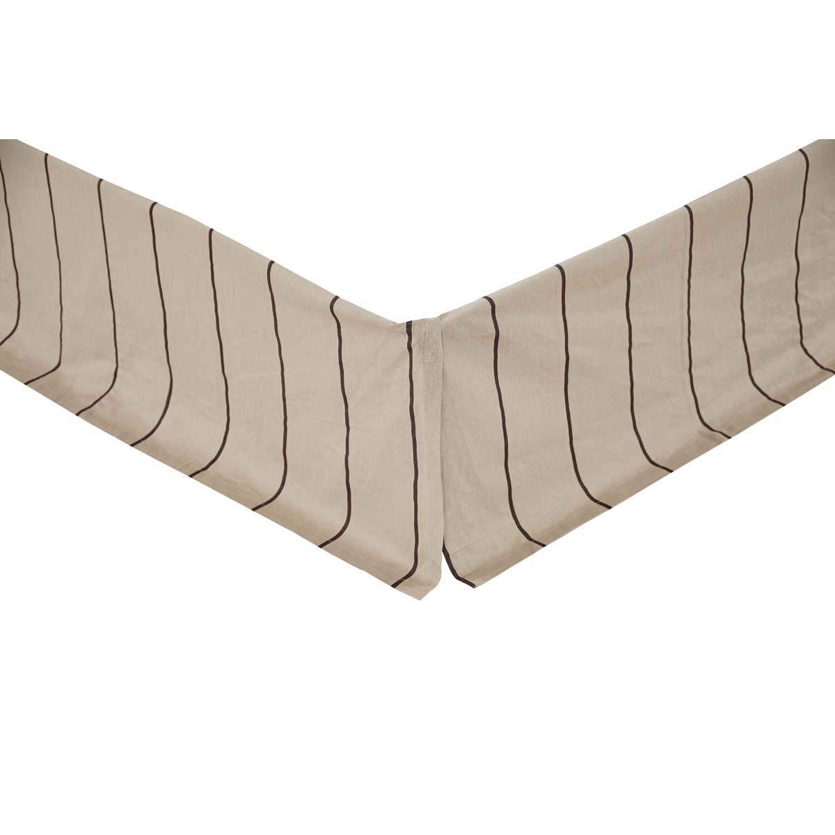Charlotte Slate Twin Bed Skirt 39x76x16