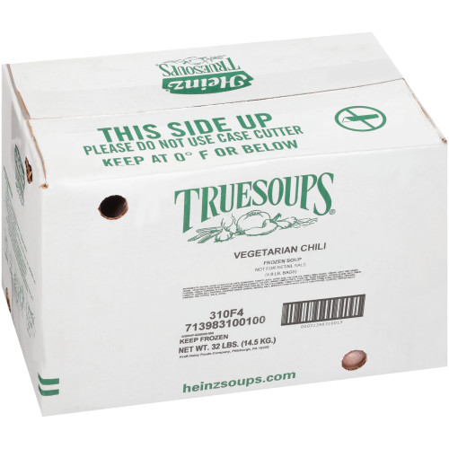 HEINZ TRUESOUPS Vegetarian Chili Soup, 8 lb. Bag (Pack of 4)