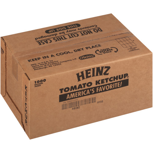 HEINZ Single Serve Ketchup, 11 gr. Packets (Pack of 1000)