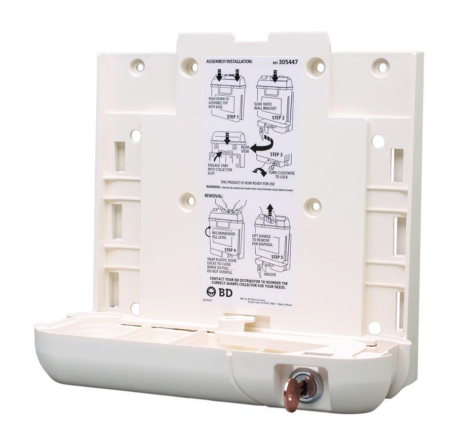Becton Dickinson Sharps Collector Bracket Locking Wall Bracket Plastic, 305447 - EACH