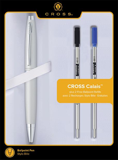 Calais Chrome Pen with Refills