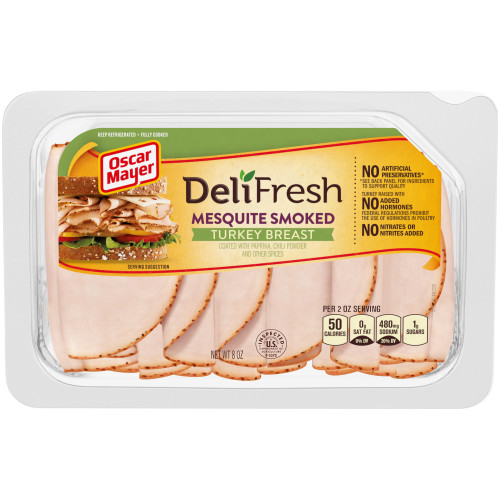 Oscar Mayer Deli Fresh Mesquite Smoked Turkey Breast Tray, 8 oz