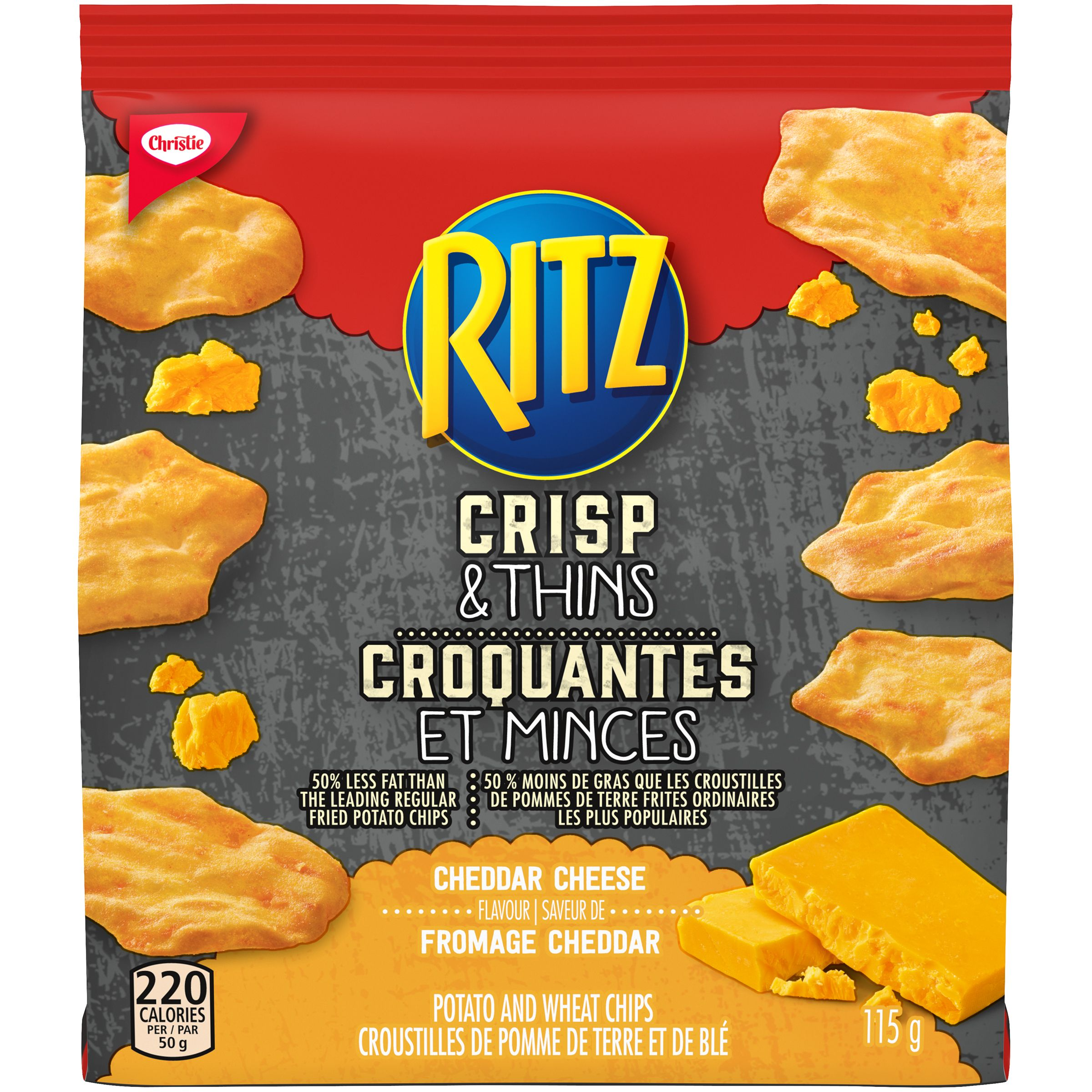 Ritz Crisp & Thin Cheddar Cheese Crackers 115 G