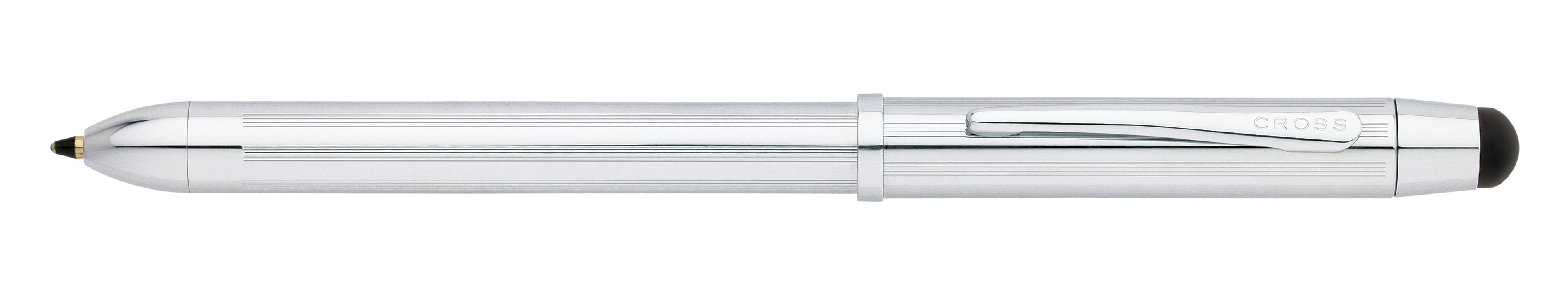 Tech3+ Lustrous Chrome Multifunction Pen