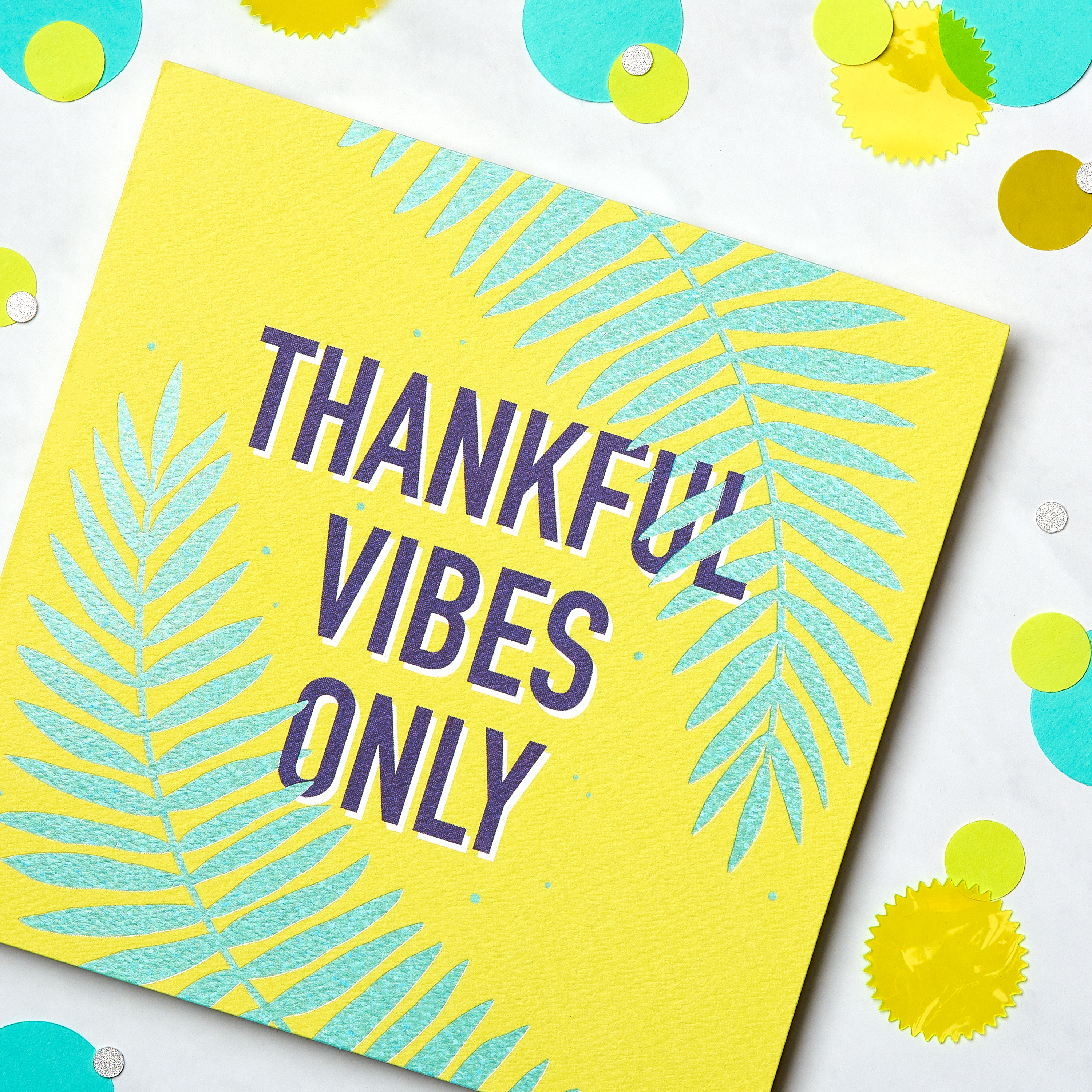 Thankful Vibes Thank You Greeting Card image