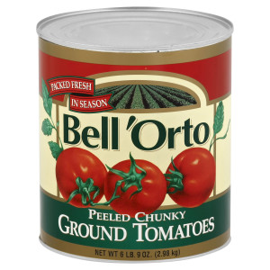Bell 'Orto Chunky Peeled Ground Tomatoes 6 lb 9 oz Can image