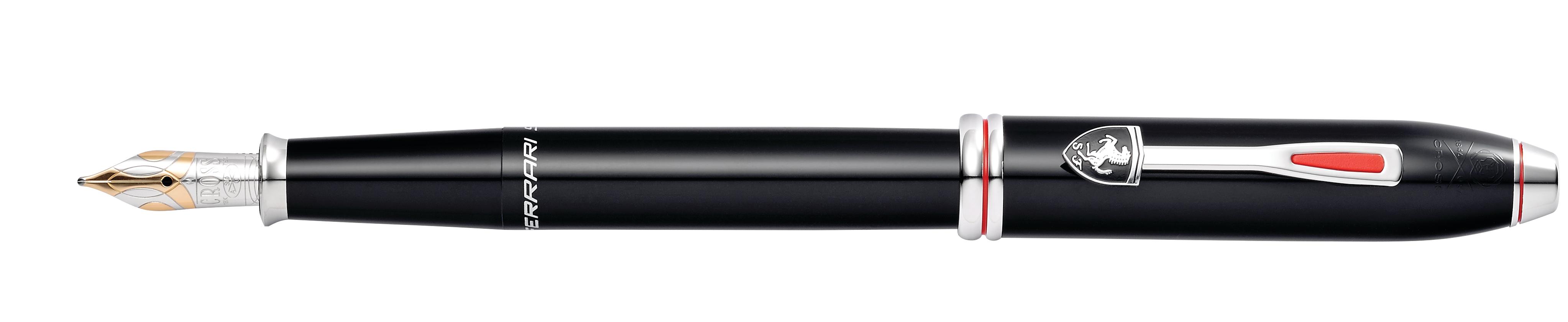 Cross Townsend Collection for Scuderia Ferrari Glossy Black Lacquer Fountain Pen