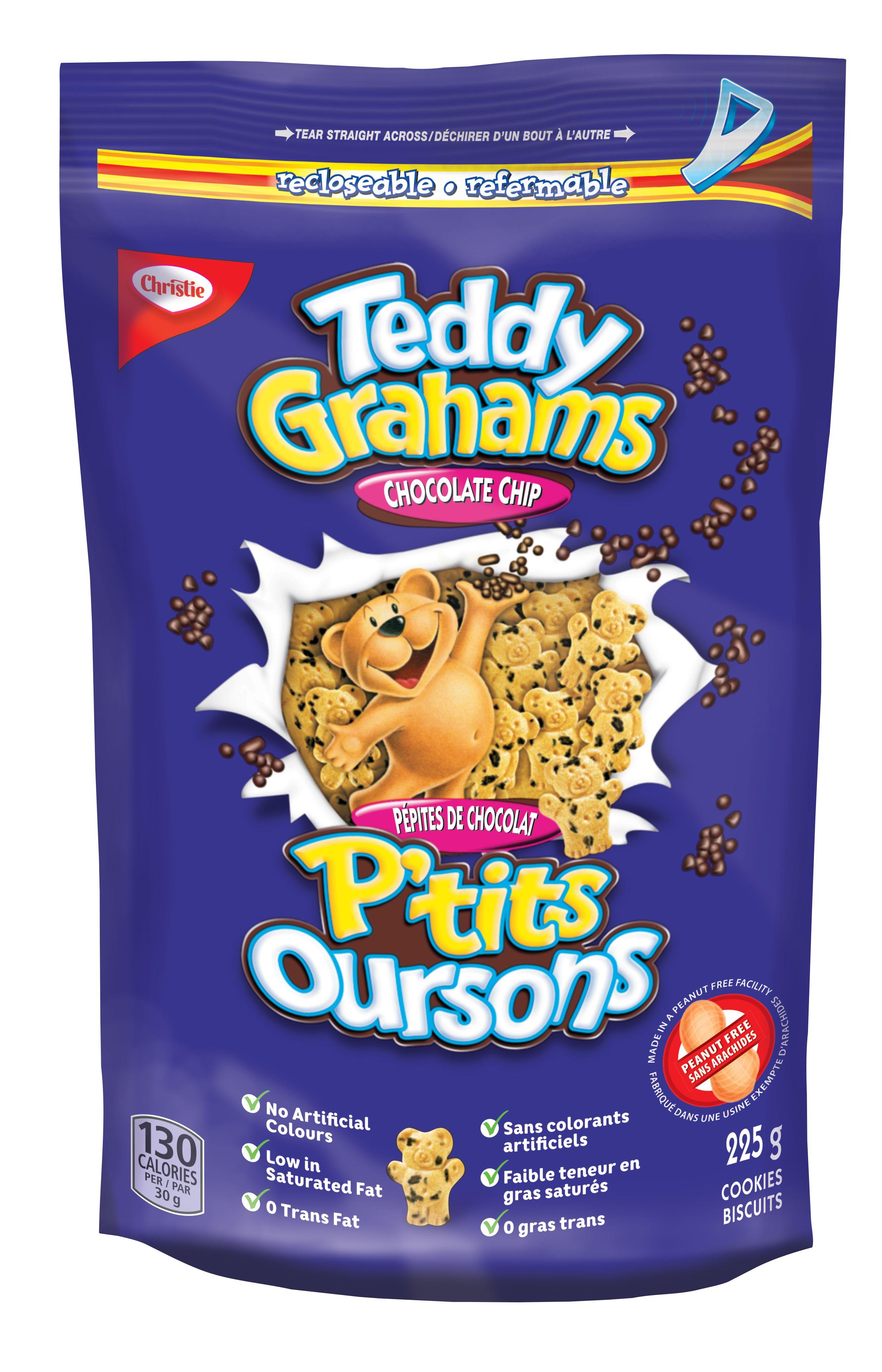 TEDDY GRAHAMS  BRISURES DE CHOCOLAT 225 GRM