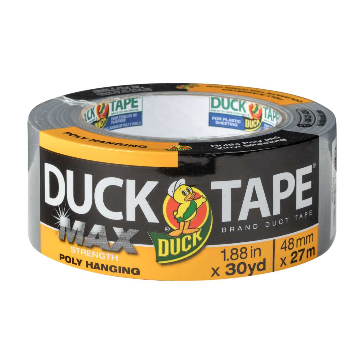 Duck® Brand Duct Tape for Poly Hanging - Silver, 1.88 in. x 30  yd. Image