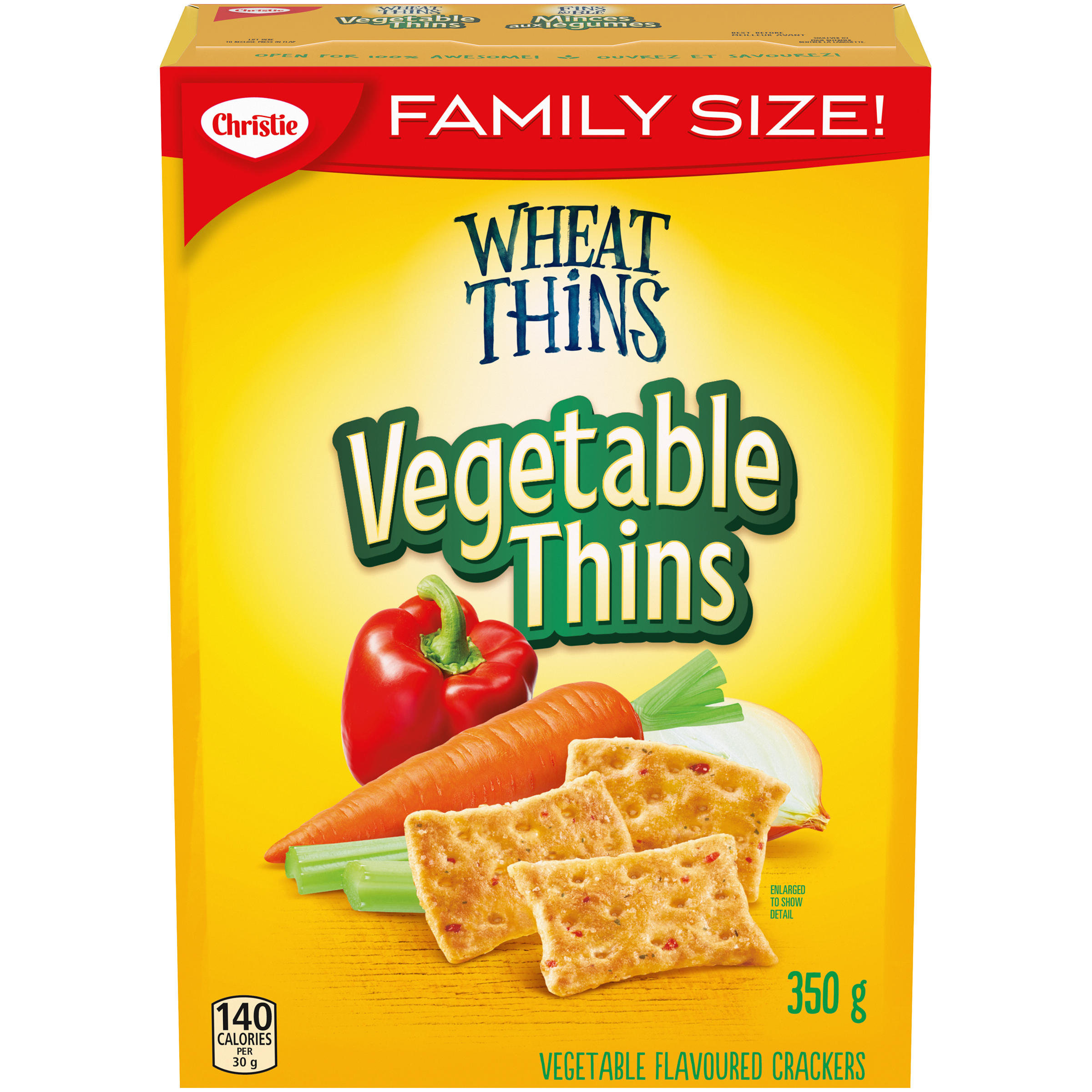 Wheat Thins Vegetable Thins Crackers 350 G