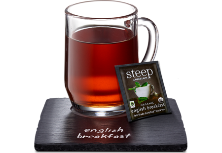 english breakfast fair trade certified black tea - case of 6 boxes - total of 120 teabags