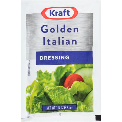 Kraft Golden Italian Dressing, 60 ct Casepack, 1.5 oz Packets