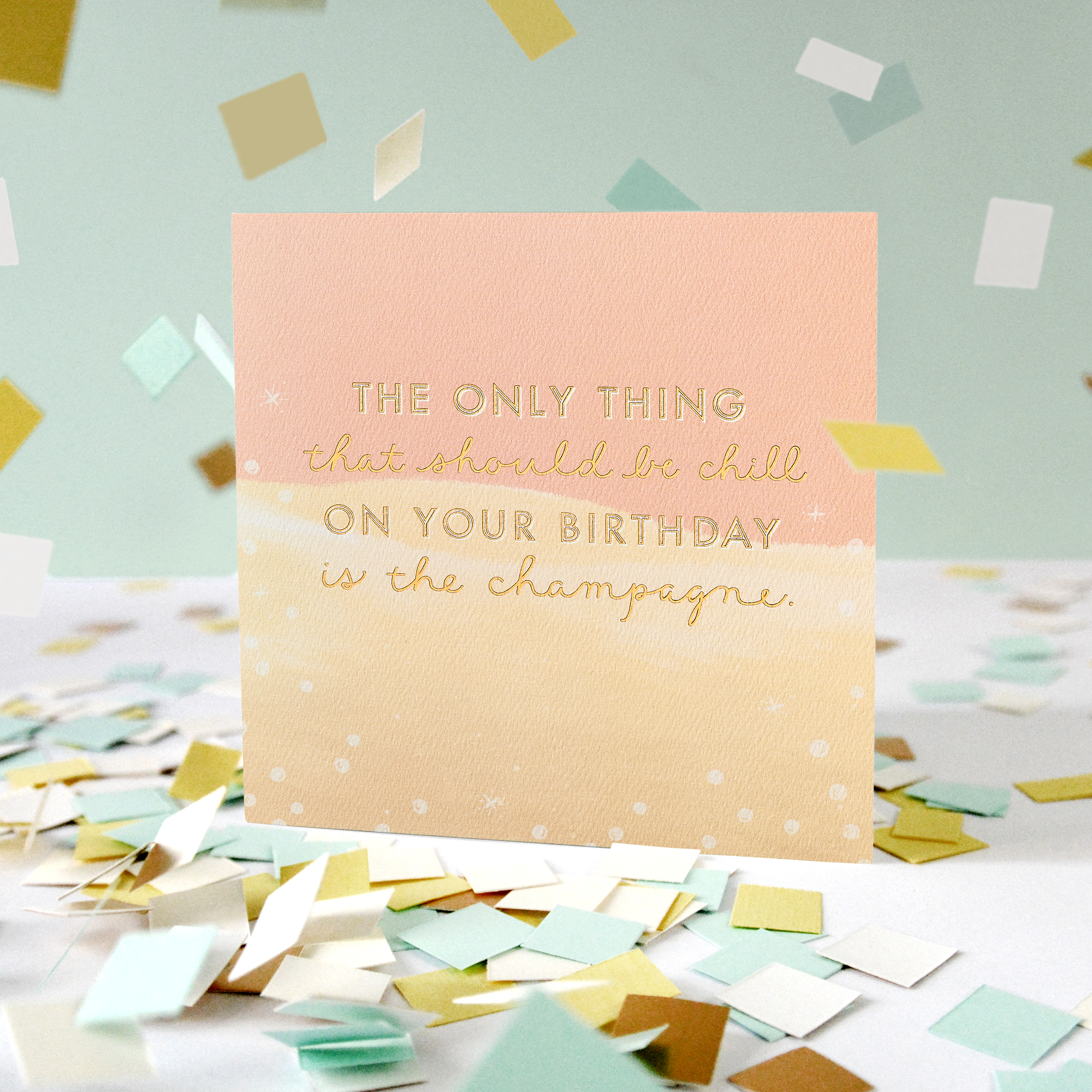 Champagne Birthday Greeting Card image