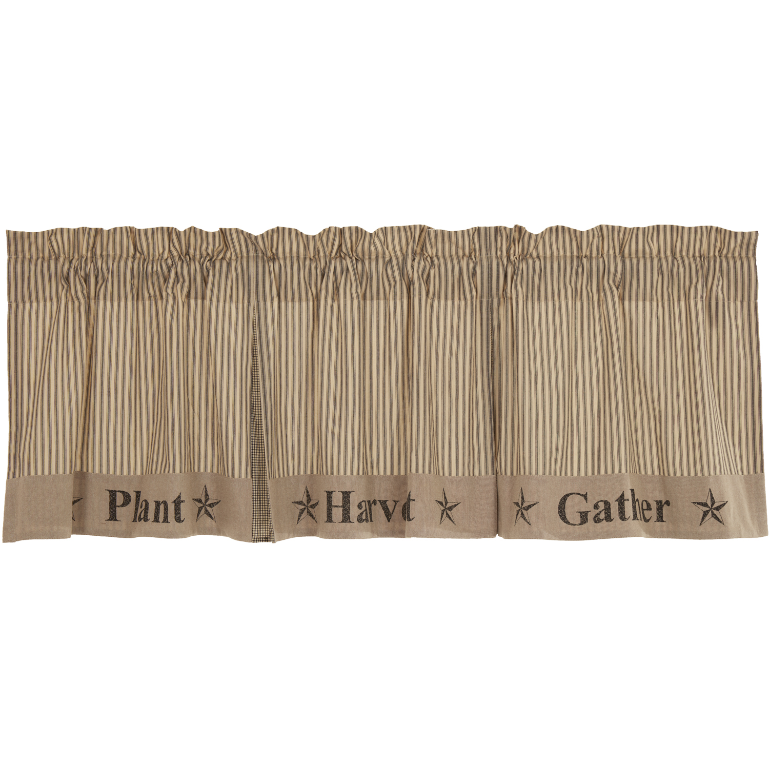 Sawyer Mill Charcoal Gather Valance 20x72