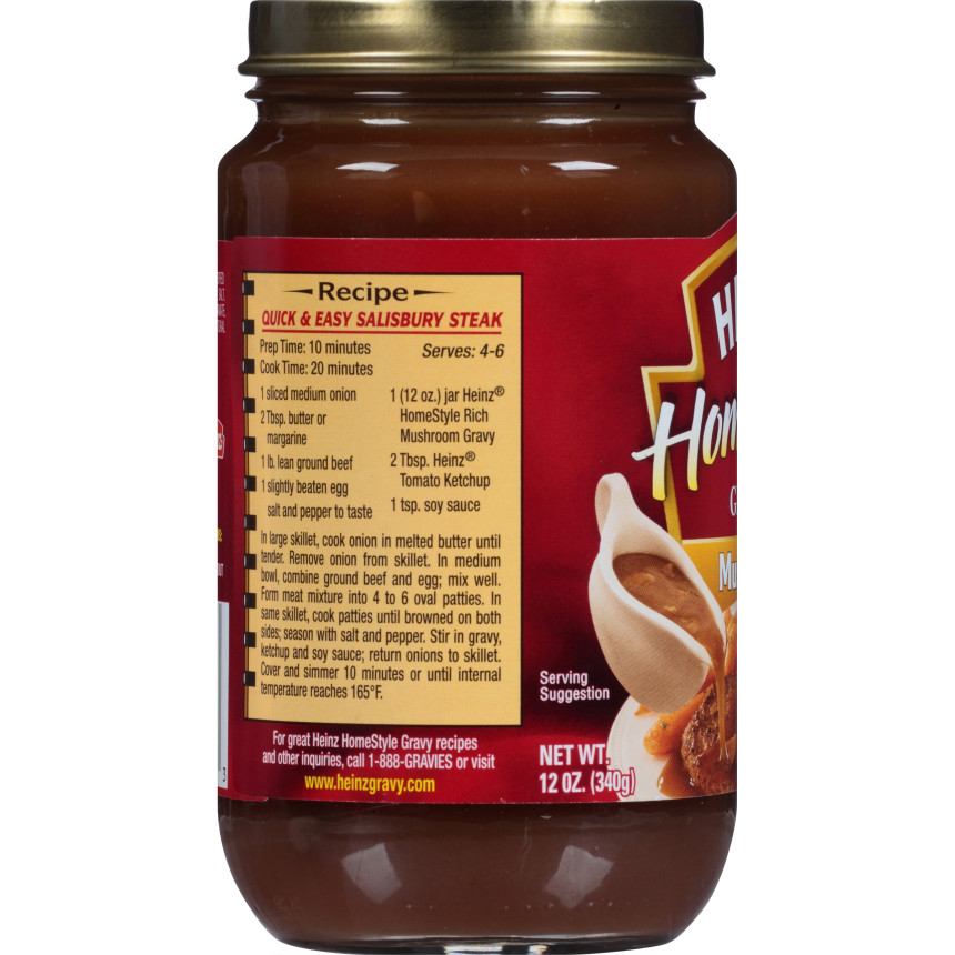 Heinz HomeStyle Mushroom Gravy 12 oz. Jar