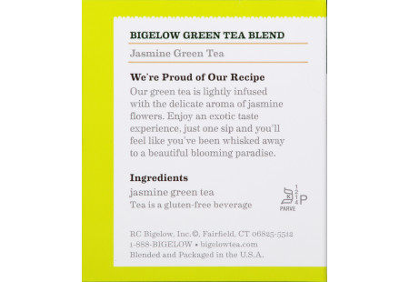 Jasmine Green Tea - Case of 6 boxes- total of 120 teabags