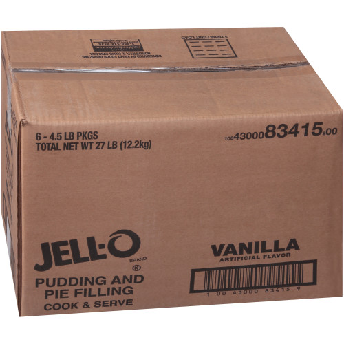 JELL-O Vanilla Pudding & Pie Filling, 72 oz. (Pack of 6)