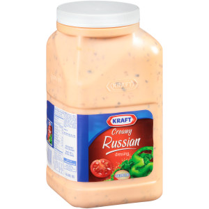 KRAFT Creamy Russian Salad Dressing, 1 gal. Jugs (Pack of 4) image