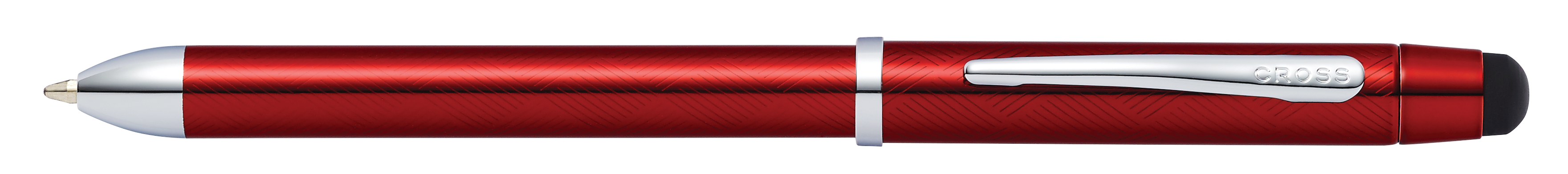 Tech3+ Translucent Red Lacquer Multifunction Pen - Self-Server Packaging