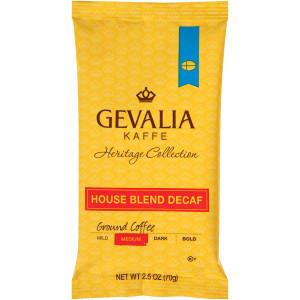 GEVALIA House Blend Decaf Coffee, 2.5 oz. Bag (Pack of 24) image