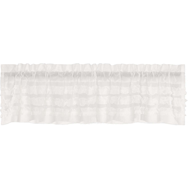 White Ruffled Sheer Petticoat Valance 16x72