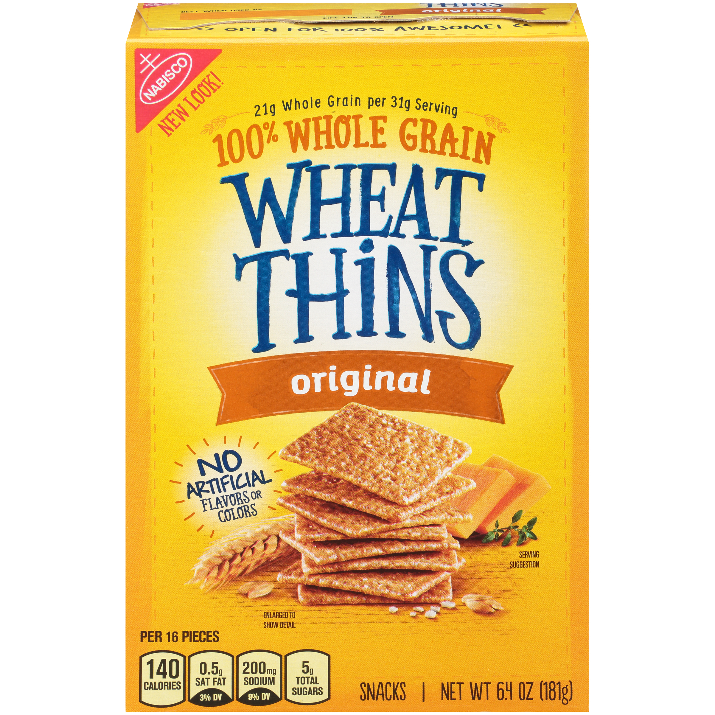 WHEAT THINS Original Crackers 6.4 oz