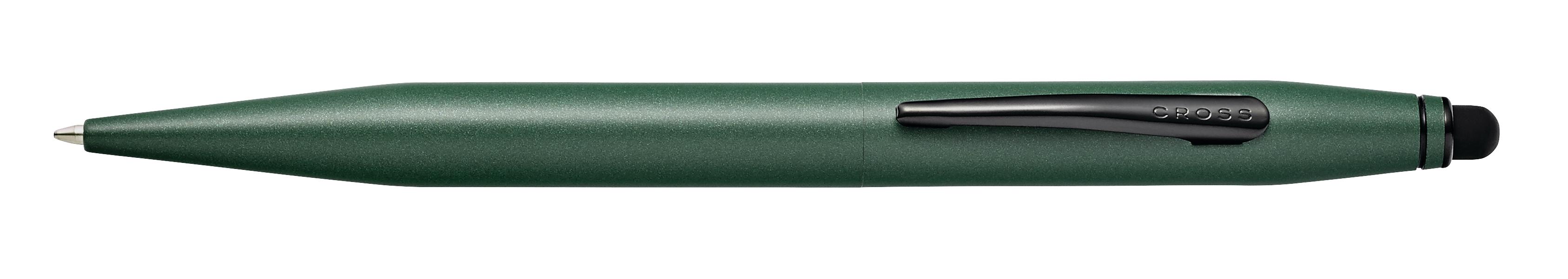 Tech 2 Matte Green Ballpoint Pen with Stylus