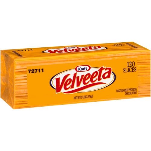 VELVEETA Sliced Cheese (120 Slices), 5 lb. (Pack of 4)