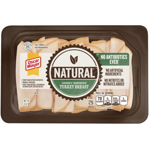 OSCAR MAYER Natural Honey Smoked Turkey Breast 8 oz
