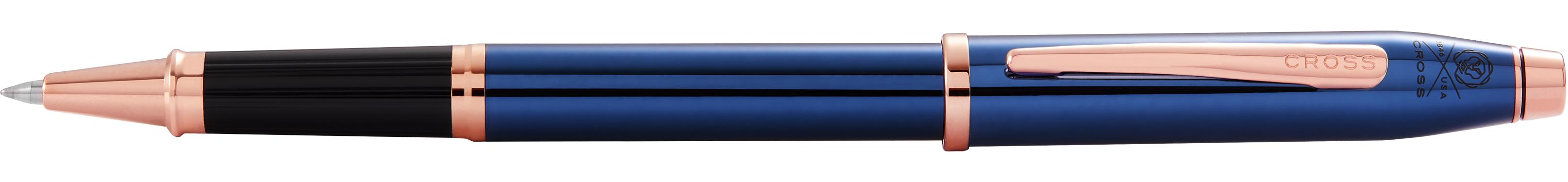 Century II Translucent Cobalt Blue Lacquer Rollerball Pen