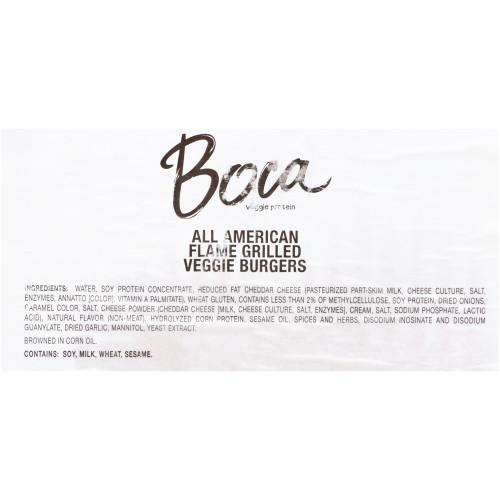 BOCA All American Classic Vegetarian Burger, 3.5 oz. Patty (Pack of 48)