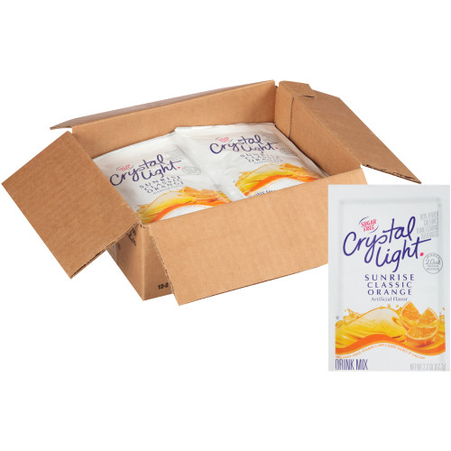 CRYSTAL LIGHT Single Serve Sugar-Free Sunrise Orange Powdered Mix, 1.8 oz. Packet (Pack of 12)