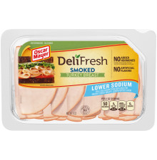 OSCAR MAYER Deli Fresh Lower Sodium Smoked Turkey 8 oz