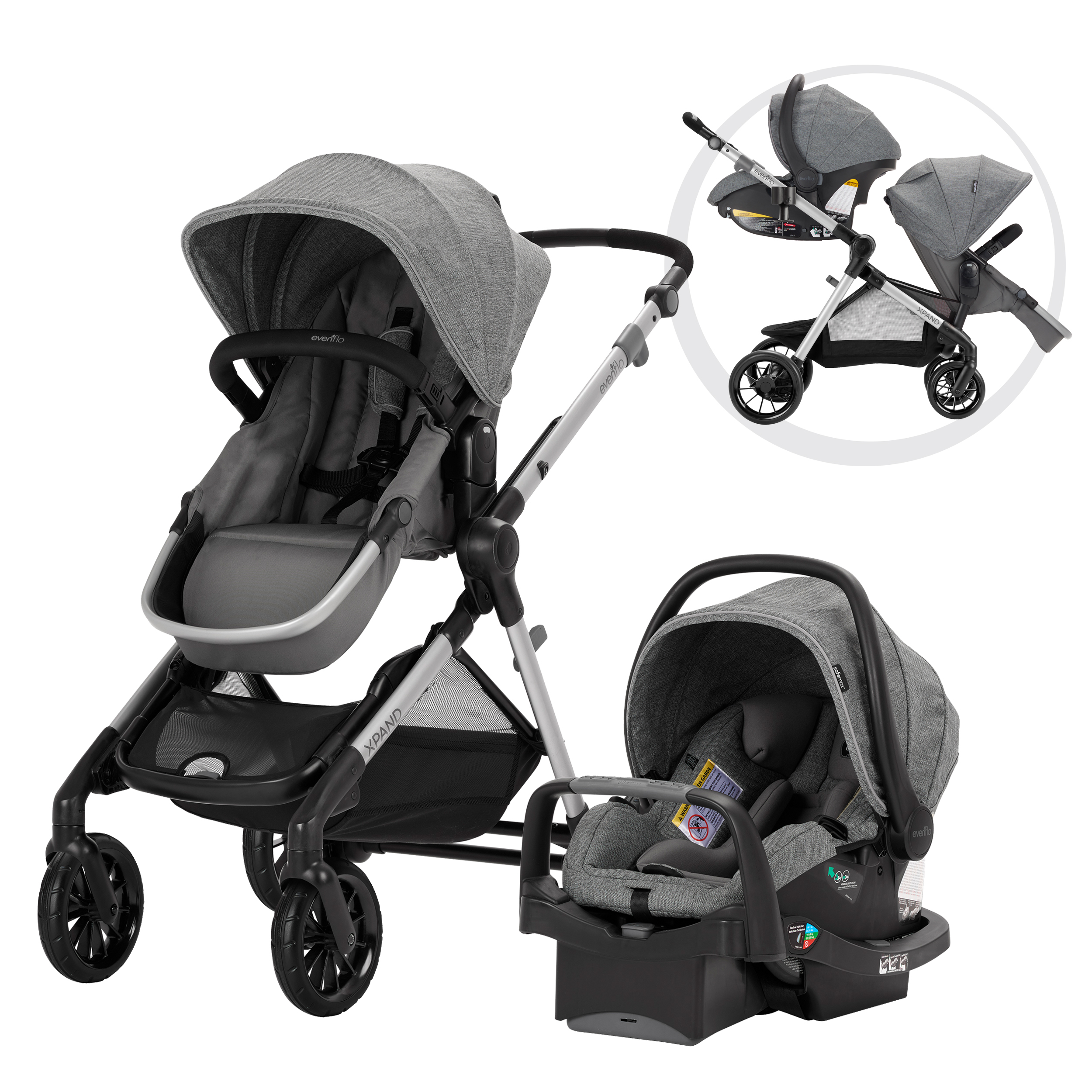 Evenflo Minno Twin Lightweight Double Stroller, Glenbarr ...