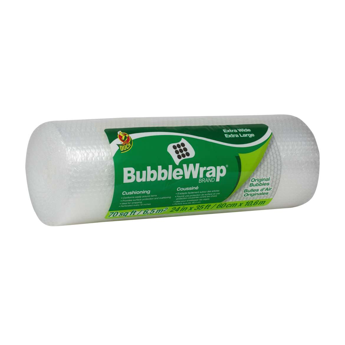 Duck® Brand Original Bubble Wrap® Cushioning - Clear, 24 in. x 35 ft. Image