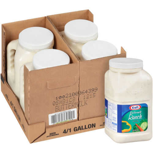 KRAFT Buttermilk Ranch Salad Dressing, 1 gal. Jugs (Pack of 4)