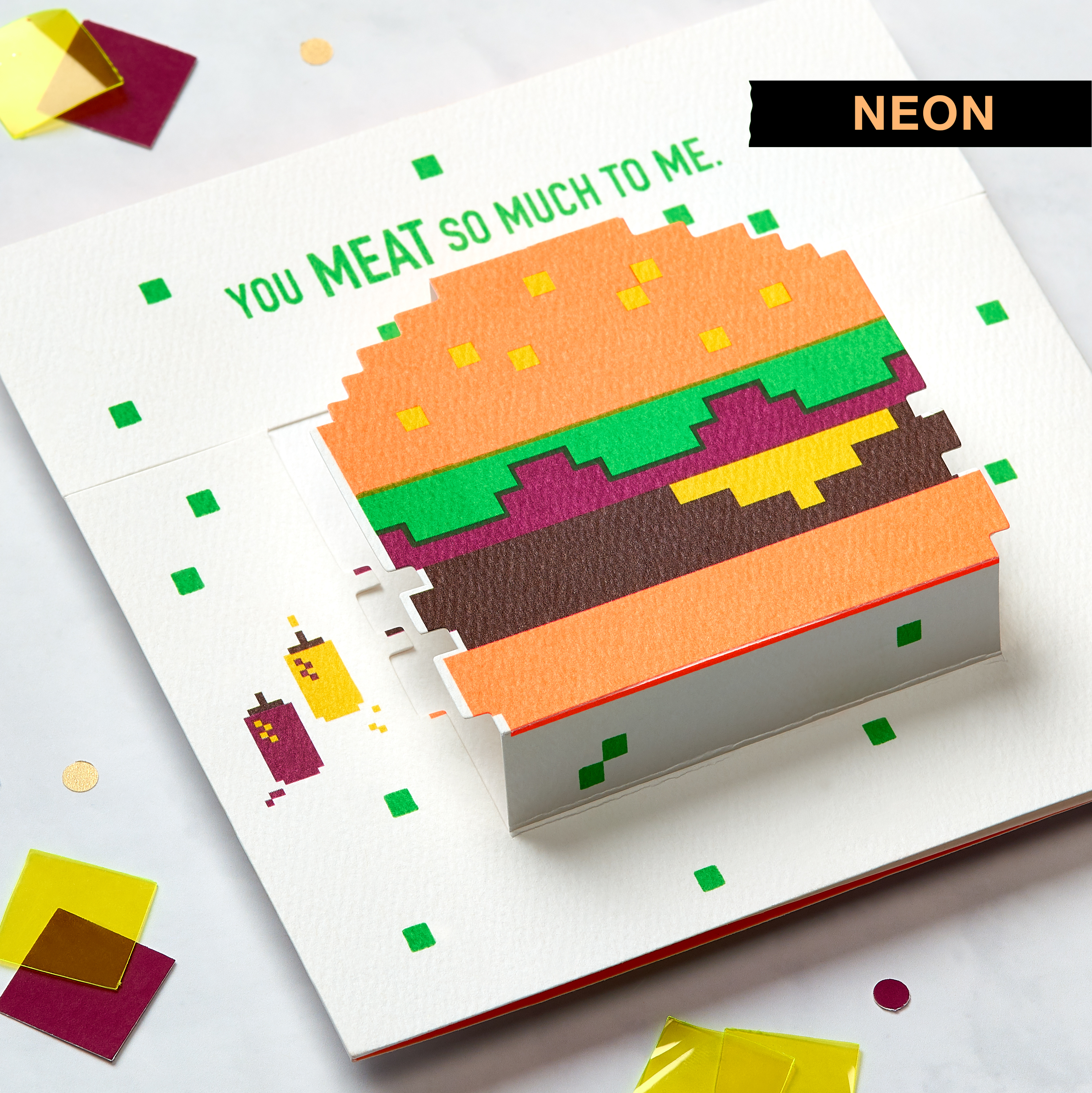 Hamburger Birthday Greeting Card  image